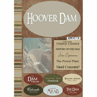 Scrapbook Customs - Travel Collection - National Park - Cardstock Stickers - Hoover Dam
