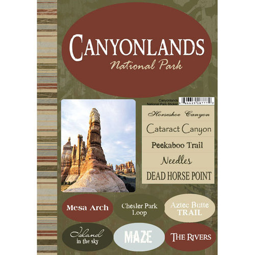 Scrapbook Customs - United States Collection - Utah - National Park - Cardstock Stickers - Canyonlands