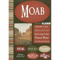Scrapbook Customs - United States Collection - Utah - National Park - Cardstock Stickers - Moab