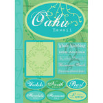 Scrapbook Customs - United States Collection - Hawaii - Cardstock Stickers - Oahu - Tropical