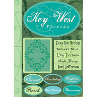 Scrapbook Customs - Untied States Collection - Florida - Cardstock Stickers - Key West - Tropical