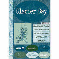 Scrapbook Customs - United States Collection - Alaska - Cardstock Stickers - Glacier Bay