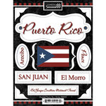 Scrapbook Customs - World Collection - Puerto Rico - Cardstock Stickers - Discover