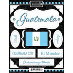 Scrapbook Customs - World Collection - Guatemala - Cardstock Stickers - Discover