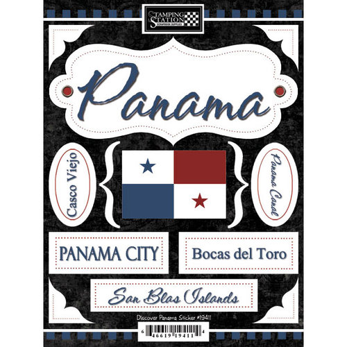 Scrapbook Customs - World Collection - Panama - Cardstock Stickers - Discover