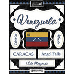 Scrapbook Customs - World Collection - Venezuela - Cardstock Stickers - Discover