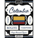 Scrapbook Customs - World Collection - Colombia - Cardstock Stickers - Discover