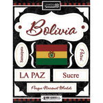 Scrapbook Customs - World Collection - Bolivia - Cardstock Stickers - Discover