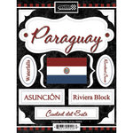 Scrapbook Customs - World Collection - Paraguay - Cardstock Stickers - Discover