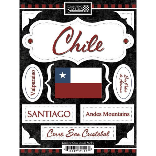 Scrapbook Customs - World Collection - Chile - Cardstock Stickers - Discover