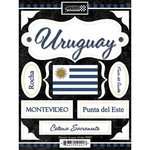 Scrapbook Customs - World Collection - Uruguay - Cardstock Stickers - Discover