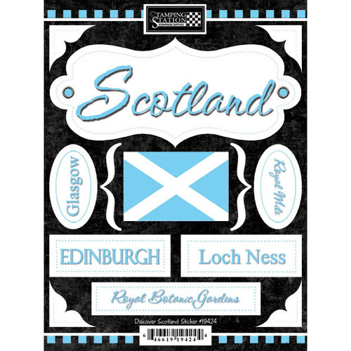 Scrapbook Customs - World Collection - Scotland - Cardstock Stickers - Discover