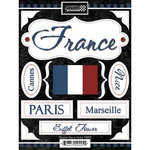 Scrapbook Customs - World Collection - France - Cardstock Stickers - Discover