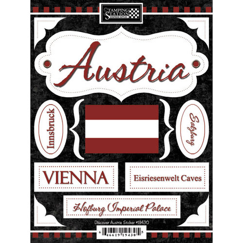 Scrapbook Customs - World Collection - Austria - Cardstock Stickers - Discover