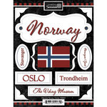 Scrapbook Customs - World Collection - Norway - Cardstock Stickers - Discover