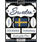 Scrapbook Customs - World Collection - Sweden - Cardstock Stickers - Discover