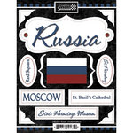 Scrapbook Customs - World Collection - Russia - Cardstock Stickers - Discover
