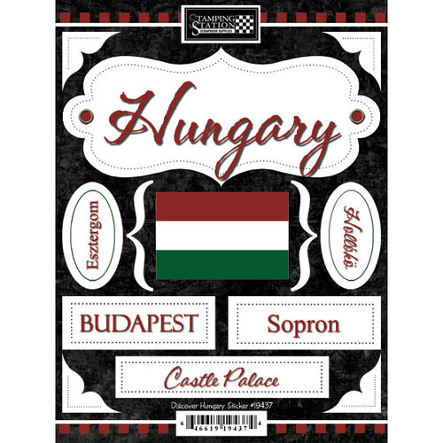 Scrapbook Customs - World Collection - Hungary - Cardstock Stickers - Discover