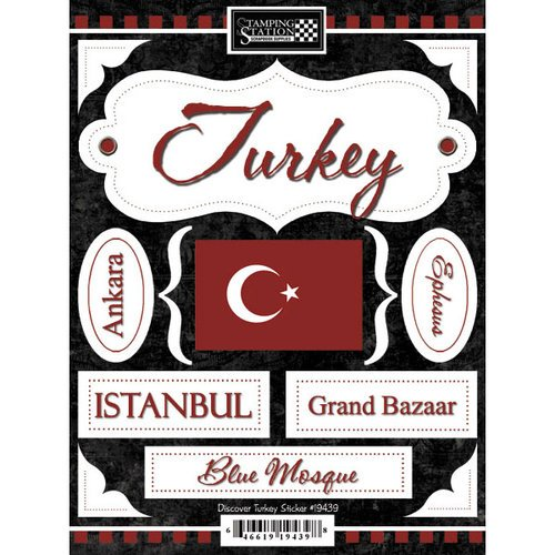 Scrapbook Customs - World Collection - Turkey - Cardstock Stickers - Discover