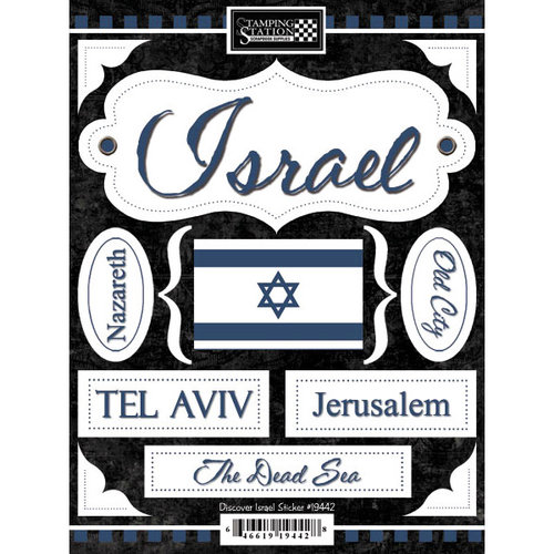 Scrapbook Customs - World Collection - Israel - Cardstock Stickers - Discover