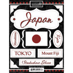 Scrapbook Customs - World Collection - Japan - Cardstock Stickers - Discover