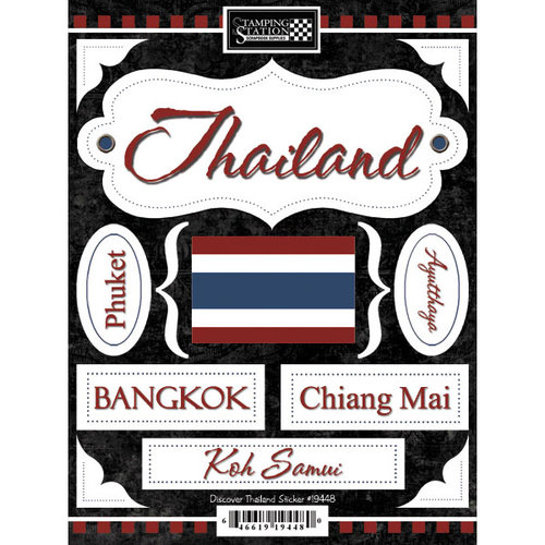 Scrapbook Customs - World Collection - Thailand - Cardstock Stickers - Discover