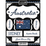 Scrapbook Customs - World Collection - Australia - Cardstock Stickers - Discover