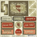 Scrapbook Customs - United States Collection - Nevada - Distressed Cardstock Stickers