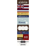 Scrapbook Customs - United States Collection - Hawaii - Cardstock Stickers - Chic