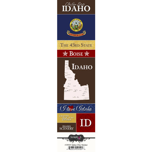 Scrapbook Customs - United States Collection - Idaho - Cardstock Stickers - Chic