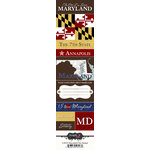Scrapbook Customs - United States Collection - Maryland - Cardstock Stickers - Chic