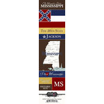 Scrapbook Customs - United States Collection - Mississippi - Cardstock Stickers - Chic