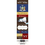 Scrapbook Customs - United States Collection - New York - Cardstock Stickers - Chic
