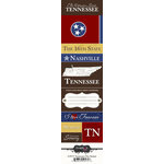 Scrapbook Customs - United States Collection - Tennessee - Cardstock Stickers - Chic