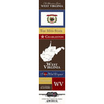 Scrapbook Customs - United States Collection - West Virginia - Cardstock Stickers - Chic