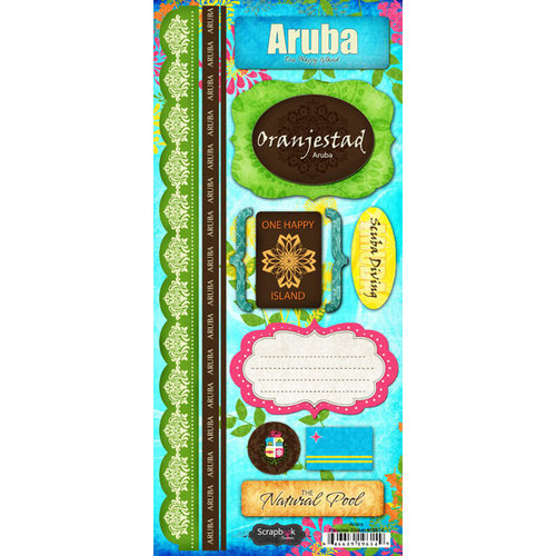 Scrapbook Customs - World Collection - Aruba - Cardstock Stickers - Paradise