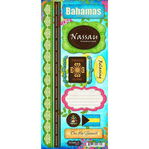 Scrapbook Customs - World Collection - Bahamas - Cardstock Stickers - Paradise