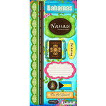 Scrapbook Customs - World Collection - Bahamas - Cardstock Stickers - Paradise