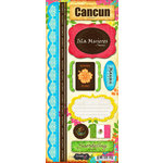 Scrapbook Customs - World Collection - Mexico - Cardstock Stickers - Cancun - Paradise