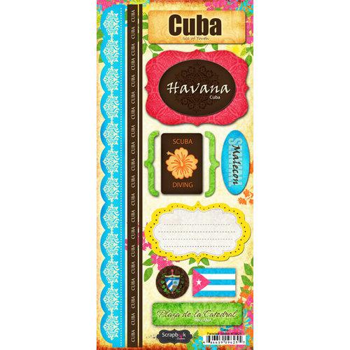 Scrapbook Customs - World Collection - Cuba - Cardstock Stickers - Paradise