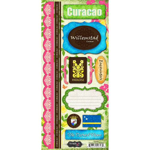 Scrapbook Customs - World Collection - Curacao - Cardstock Stickers - Paradise