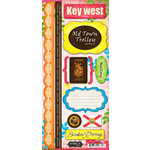 Scrapbook Customs - World Collection - USA - Florida - Cardstock Stickers - Key West - Paradise