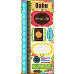Scrapbook Customs - World Collection - USA - Hawaii - Cardstock Stickers - Oahu - Paradise