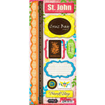 Scrapbook Customs - World Collection - Virgin Islands - Cardstock Stickers - St. John - Paradise