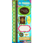 Scrapbook Customs - World Collection - Virgin Islands - Cardstock Stickers - St. Thomas - Paradise
