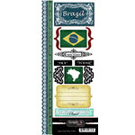 Scrapbook Customs - World Collection - Brazil - Cardstock Stickers - Explore