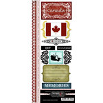 Scrapbook Customs - World Collection - Canada - Cardstock Stickers - Explore