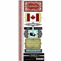 Scrapbook Customs - World Collection - Canada - Cardstock Stickers - Explore