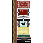 Scrapbook Customs - World Collection - China - Cardstock Stickers - Explore