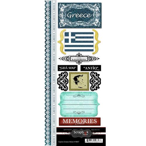 Scrapbook Customs - World Collection - Greece - Cardstock Stickers - Explore